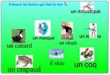 Ressource pour tableau interactif : Etude du code  le son k et les lettres C, K, et QU