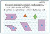 Ressource pour tableau interactif : Périmètre, Aire, Volume - 6eme