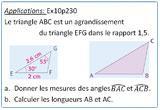 Ressource pour tableau interactif : Agrandissement et réduction (effet sur les longueurs et les angles) - 3eme