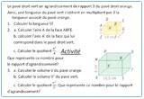 Ressource pour tableau interactif : Agrandissement et réduction (effets sur les aires et les volumes) - 6eme