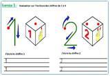 Ressource pour tableau interactif : Apprendre à écrire les chiffres de 1 à 4