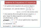 Ressource pour tableau interactif : Introduction des systèmes de 2 équations à 2 inconnues