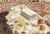 Ressource pour tableau interactif : Le temple d'Athéna Nikè (l'architecture d'un temple grec)